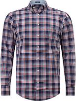 Gant Dobby Plaid Regular Fit Shirt, Yale Blue