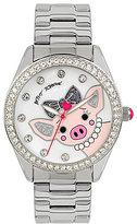 Betsey Johnson Pig in Pearls Analog Bracelet Watch