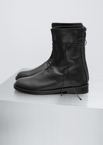 Ann Demeulemeester vitello lux black lace up oxford boot