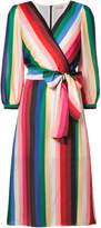 Alice + Olivia Alice+Olivia rainbow stripe wrap dress