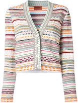 Missoni V-neck striped cardigan - women - Nylon/Viscose - 46