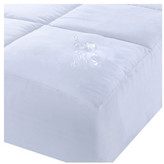 Epoch Hometex/Lotus Home Lotus Home Microfiber Water & Stain Resistant Mattress Pad, White, Ful