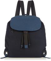 Bottega Veneta Intrecciato leather and canvas backpack