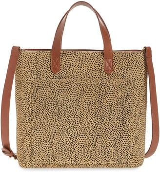 Madewell Genuine Calf Hair Small Transport Tote Bag