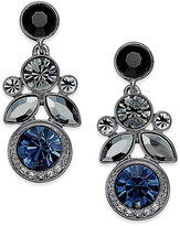 Givenchy Hematite-Tone Crystal Cluster Post Earrings