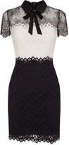 Sandro Paris Two-Tone Lace Bow Dress