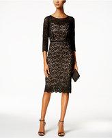 Alex Evenings Beaded Lace Sheath Dress