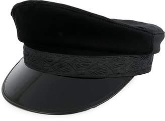 Manokhi embroidered detail wide brim hat