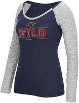 Reebok Women's Minnesota Wild Marled Slub Tee