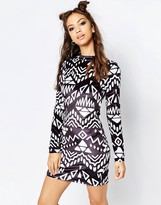 Jaded London Monochrome Dress