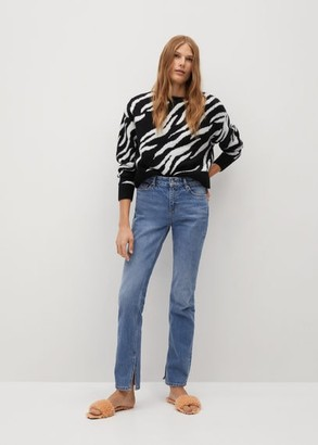 MANGO Zebra printed sweater
