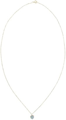 WWAKE 14kt Yellow Gold Exclusive Small Opal Pendant Necklace