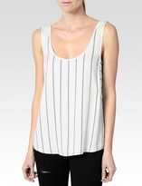 Paige Wilfred Tank - White with Black Twill Stripe