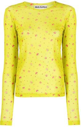 Molly Goddard floral mesh T-shirt