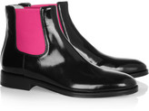 Christopher Kane Fluoro polished leather Chelsea boots