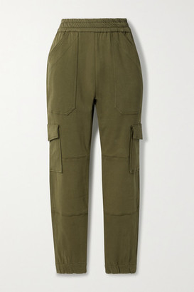 Sprwmn Cotton-twill Tapered Pants - Army green