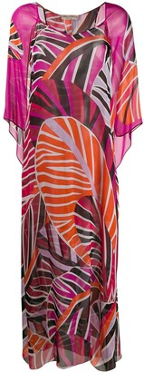 Emilio Pucci Graphic-Print Beach Maxi-Dress