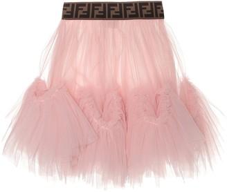 Fendi Kids Tulle skirt