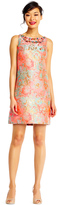 Adrianna Papell AP1E201459 Multi-Colored Jacquard Column Dress