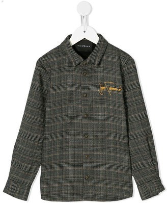 John Richmond Junior check pattern shirt