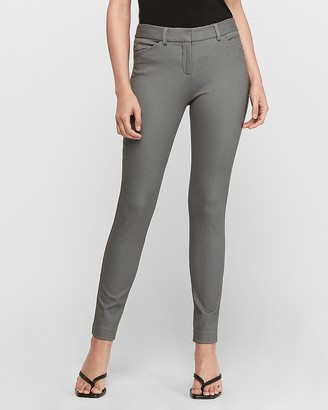 Express Mid Rise Ribbed Twill Skinny Pant