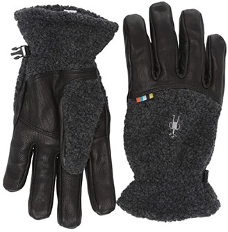 Smartwool Trail Ridge Sherpa Gloves (Charcoal) Extreme Cold Weather Gloves
