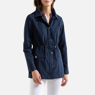Anne Weyburn Lightweight Parka with Removable Hood