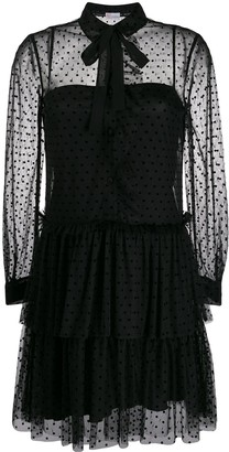 RED Valentino Sheer detail dress