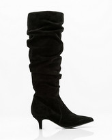 Le Château Suede Pointy Toe Slouch Boot