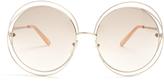 Chloé Carlina round-frame sunglasses
