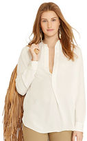 Polo Ralph Lauren Silk Contrast-Yoke Shirt