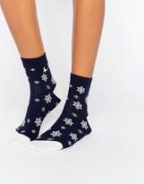 Jack Wills Intarsia Abballay Ankle Socks