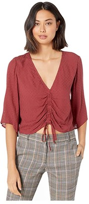 BCBGeneration Front Drawstring Top TFT1214152 (Burnt Sienna) Women's Clothing