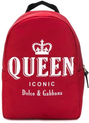 Dolce & Gabbana Kids Printed Shell Backpack