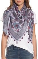 Hinge Women's Vintage Blooms Square Silk Scaf