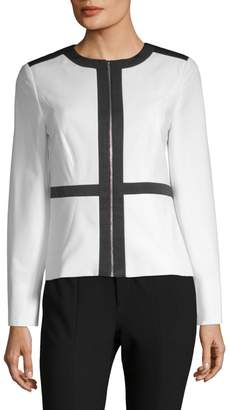 Calvin Klein Collection Contrast Zip Jacket