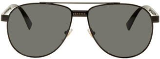 Versace Black Rock Icons Aviator Sunglasses