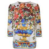 Dolce & Gabbana Majolica Silk Top
