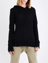 R 13 Distressed cashmere hoody