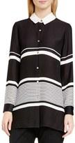Vince Camuto Women's Nautical Stripe Long Blouse