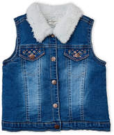 Jessica Simpson Toddler Girls) Sherpa-Lined Denim Vest