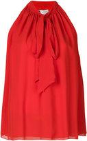 Lanvin tied neck sleeveless blouse - women - Silk - 38