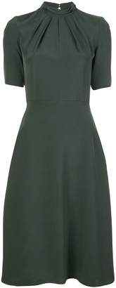 Adam Lippes twisted-neck crepe de Chine A-line dress