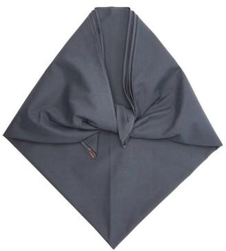 Art School Cotton Headscarf - Navy