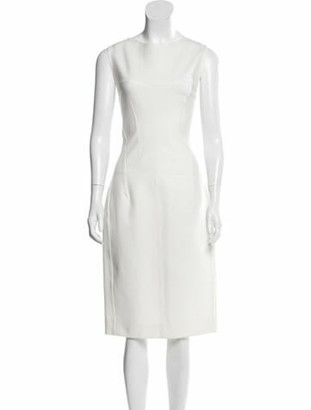 Thierry Mugler Sleeveless Midi Dress w/ Tags White