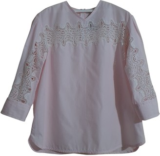 Sandro Spring Summer 2019 Pink Cotton Top for Women