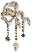 Banana Republic Jeweled Asymmetrical Bow Brooch