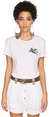 Etro FITTED JERSEY T-SHIRT W/ EMBROIDERY