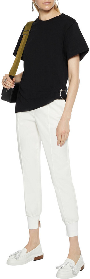Thumbnail for your product : 3.1 Phillip Lim Buckle-detailed Cotton-jersey T-shirt