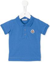 Moncler embroidered logo polo shirt - kids - Cotton/Spandex/Elastane - 9-12 mth